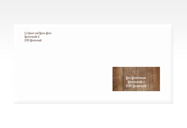 """Kuvert DIN lang """"Wood"""" DIN lang braun"""