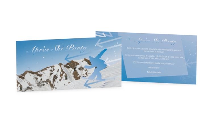 Biglietti di invito apres ski DIN lang