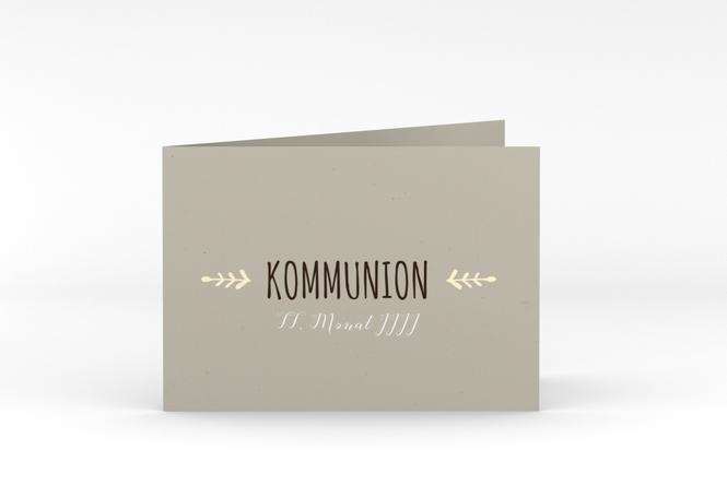 "Kommunionseinladung ""Ramus"", A6 Klappkarte Quer"