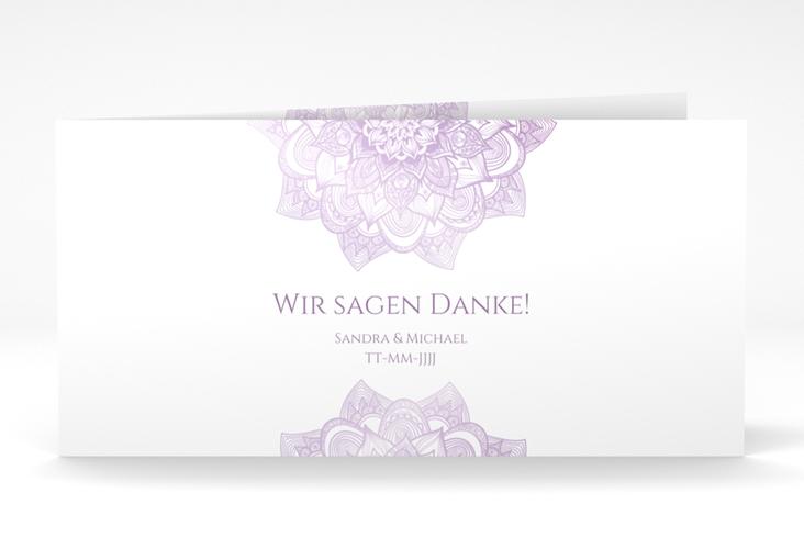 "Danksagungskarte Hochzeit ""Delight"" DIN lang Klappkarte flieder"