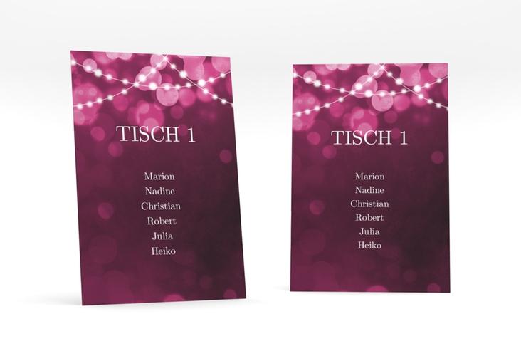 """Tischaufsteller Hochzeit """"Lichtspiel"""" Tischaufsteller pink"""
