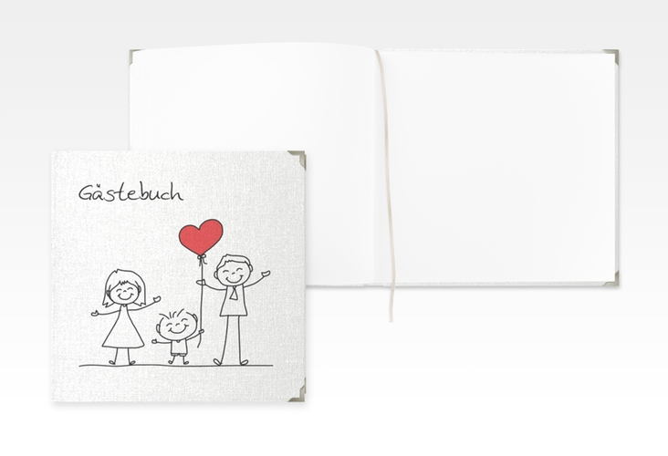 "Gästebuch Selection Hochzeit ""Family"" Leinen-Hardcover"