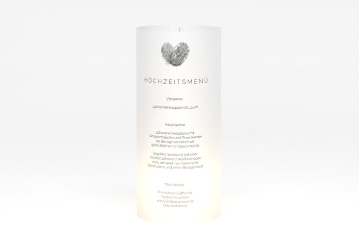 """Windlicht Menü Hochzeit """"Fingerprint"""" Windlicht schwarz"""