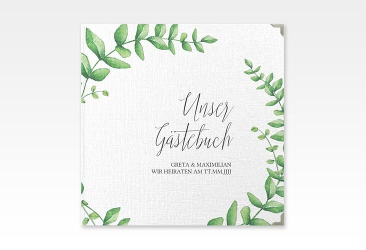"Gästebuch Selection Hochzeit ""Botanic"" Leinen-Hardcover weiss"