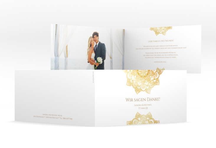 "Danksagungskarte Hochzeit ""Delight"" DIN lang Klappkarte"
