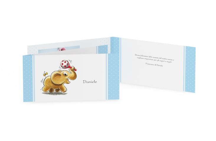 Biglietti nascita elefante DIN lang Klappkarte