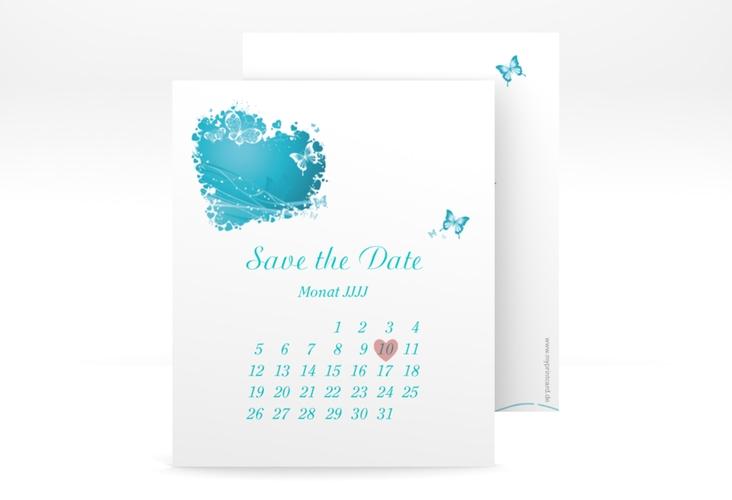 "Save the Date-Kalenderblatt ""Mailand"" Kalenderblatt-Karte tuerkis"