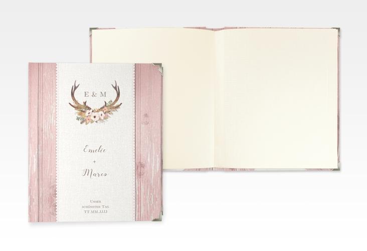 "Hochzeitsalbum ""Heimatjuwel"" 21 x 25 cm rosa"