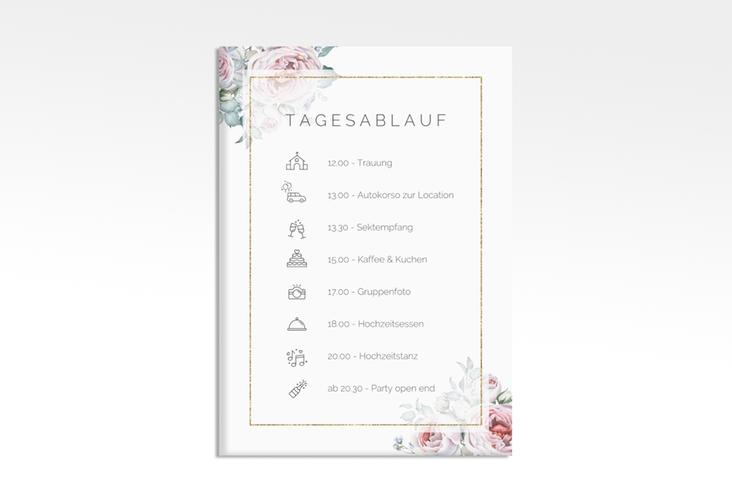 "Tagesablauf Leinwand Hochzeit ""Embrace"" 50 x 70 cm Leinwand weiss"