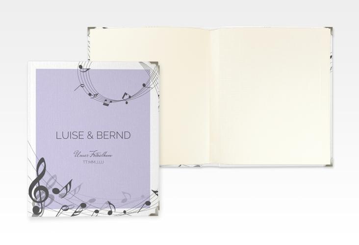 """Hochzeitsalbum """"Melody"""" 21 x 25 cm flieder"""