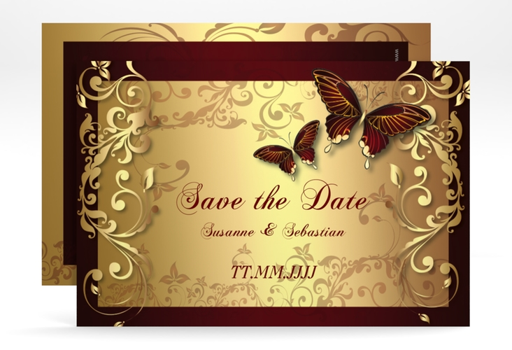 "Save the Date-Karte Hochzeit ""Toulouse"" A6 quer"