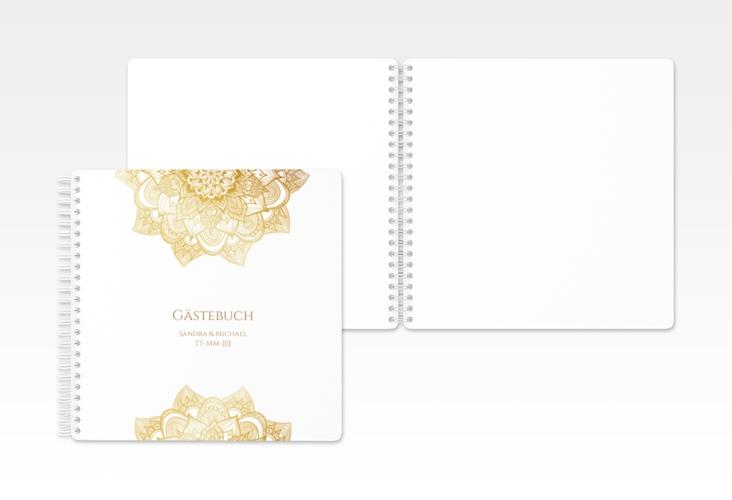 "Gästebuch Hochzeit ""Delight"" Ringbindung gold"