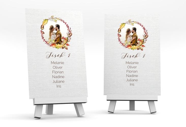 """Tischaufsteller Hochzeit """"Herbstlich"""" Tischaufsteller"""