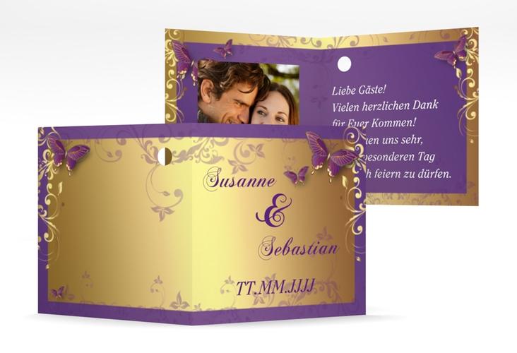 """Geschenkanhänger Hochzeit """"Toulouse"""" Geschenkanhänger 10er Set lila"""