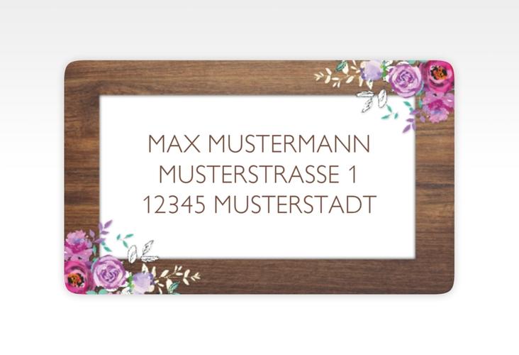 """Empfängeretikett Hochzeit """"Flourish"""" 63,5 x 38,1 mm"""