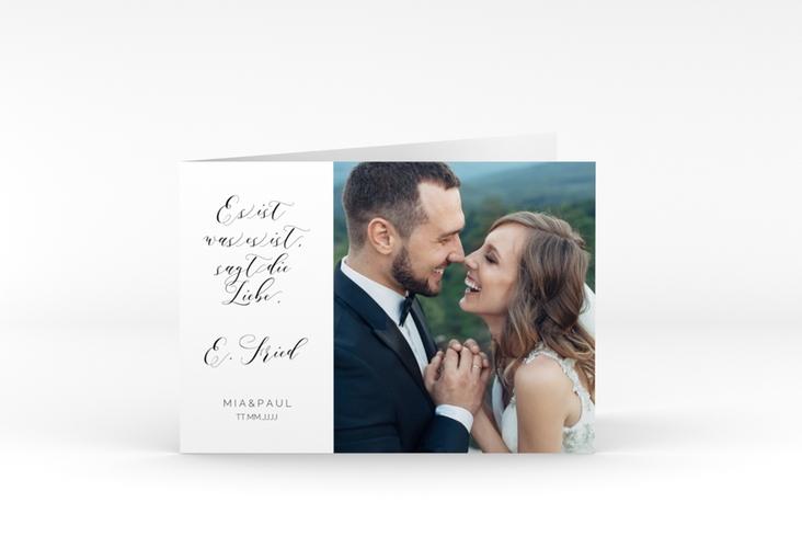 """Danksagungskarte Hochzeit """"Paperlove"""" A6 Klappkarte Quer"""