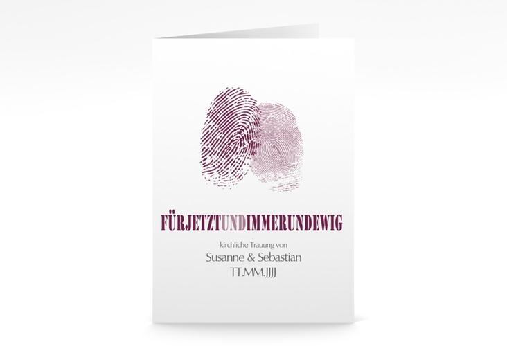 """Kirchenheft Hochzeit """"Messina"""" DIN A5 geklappt lila"""