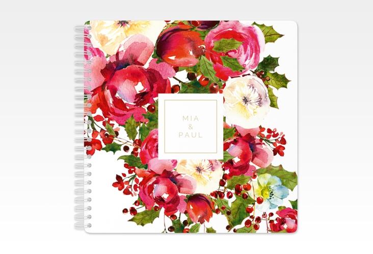"""Trautagebuch Hochzeit """"Blumenpracht"""" Trautagebuch Hochzeit weiss"""