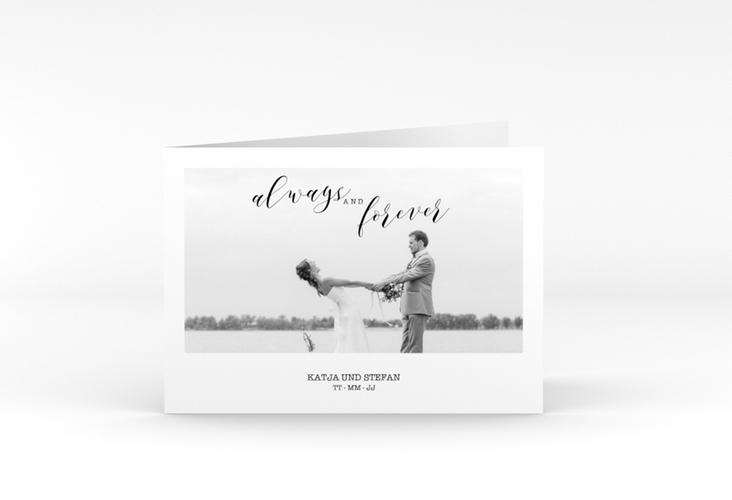 "Dankeskarte Hochzeit ""Photoframe"" A6 Klappkarte Quer"