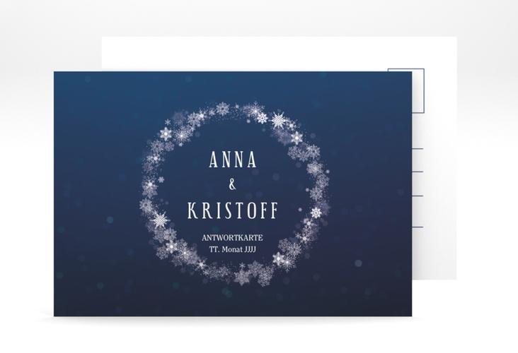 """Antwortkarte Hochzeit """"Winterdream"""" A6 Postkarte"""