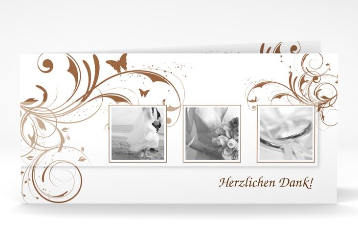 "Dankeskarte Hochzeit ""Palma"" DIN lang Klappkarte"