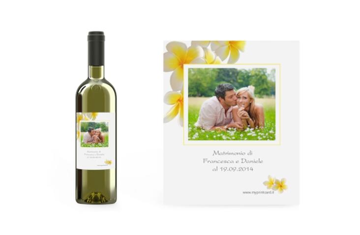 Etichette vino matrimonio collezione Napoli Etikett Weinflasche 4er Set