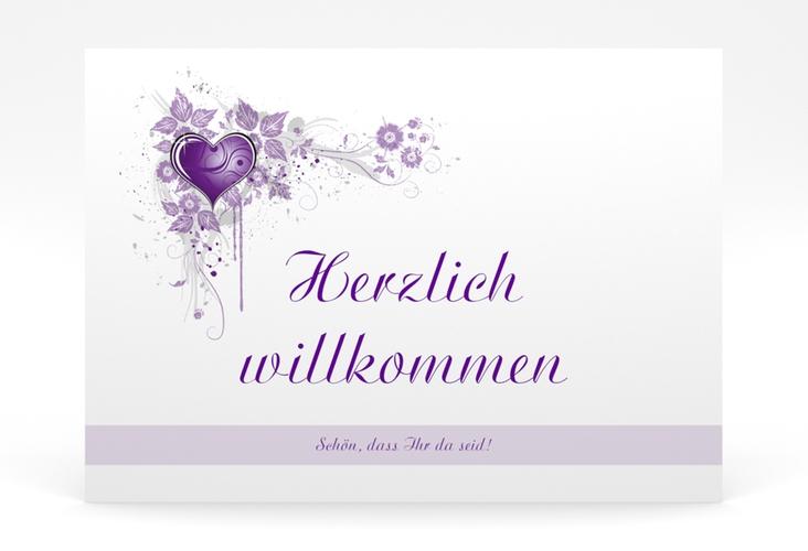"""Willkommensschild Poster """"Triest"""" 70 x 50 cm Poster lila"""