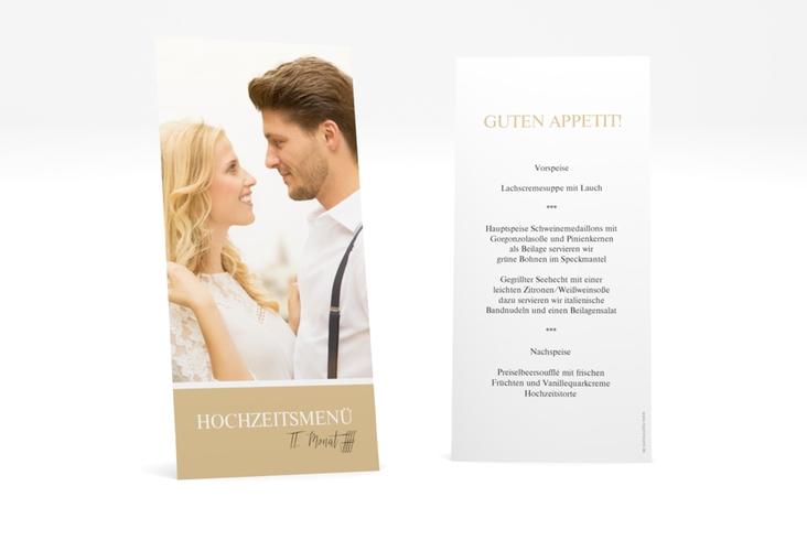 "Menükarte Hochzeit ""Balance"" DIN lang hoch beige"
