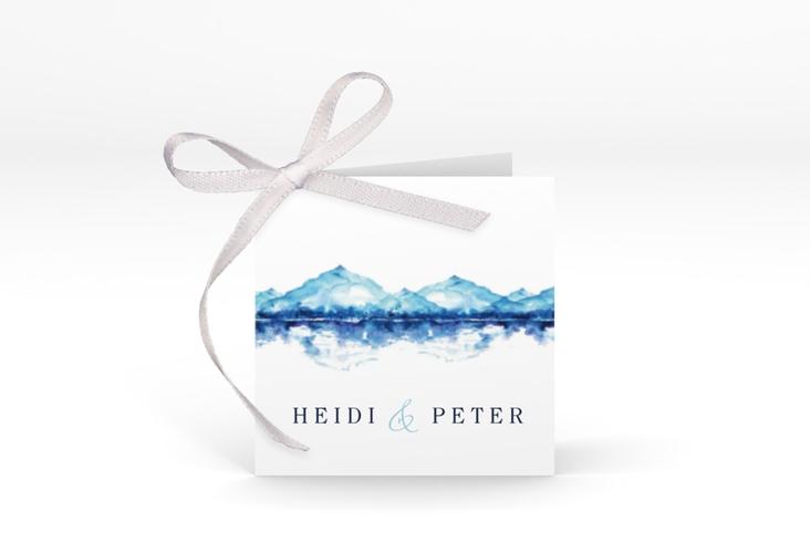 """Geschenkanhänger Hochzeit """"Bergliebe"""" Geschenkanhänger 10er Set blau"""