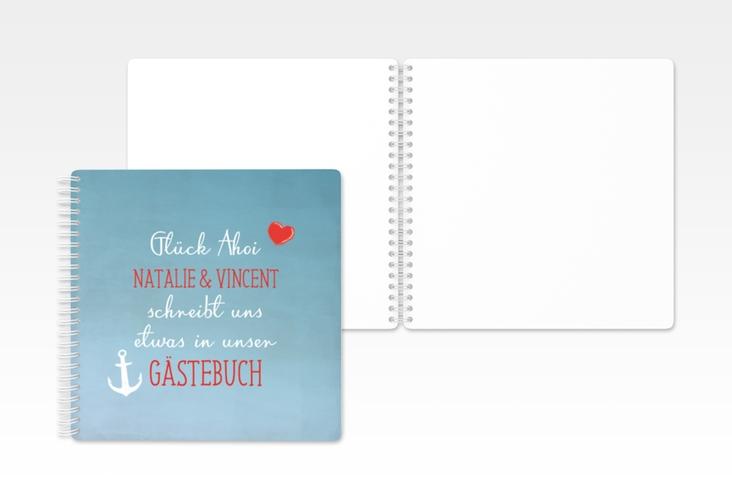 """Gästebuch Hochzeit """"Ehehafen"""" Ringbindung"""