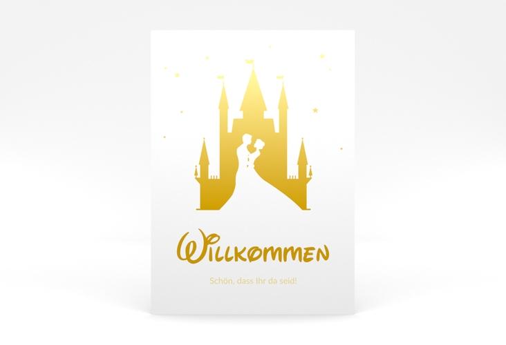 "Willkommensschild Poster ""Castle"" 50 x 70 cm Poster gold"