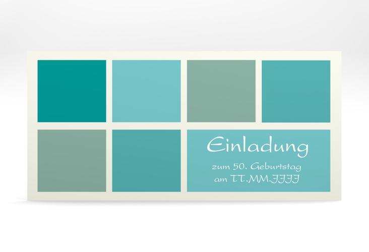 """Einladungskarte """"Daniel/Daniela"""" DIN lang blau"""