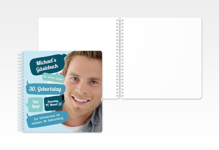 """Gästebuch Geburtstag """"Whatsup"""" Ringbindung"""