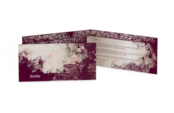 Inviti matrimonio collezione Bordeaux DIN lang Klappkarte