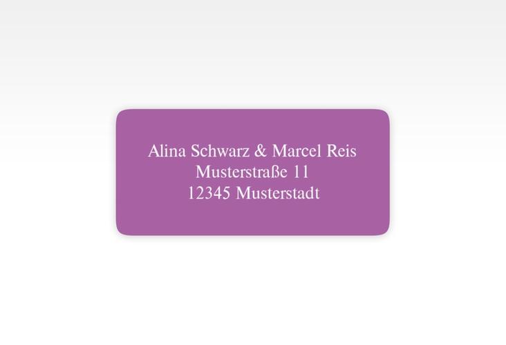 """Absenderetikett Hochzeit """"Classic"""" 45,7 x 21,2 mm lila"""