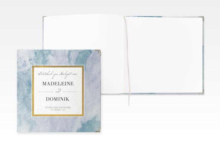 "Gästebuch Selection Hochzeit ""Marble"" Hardcover blau"