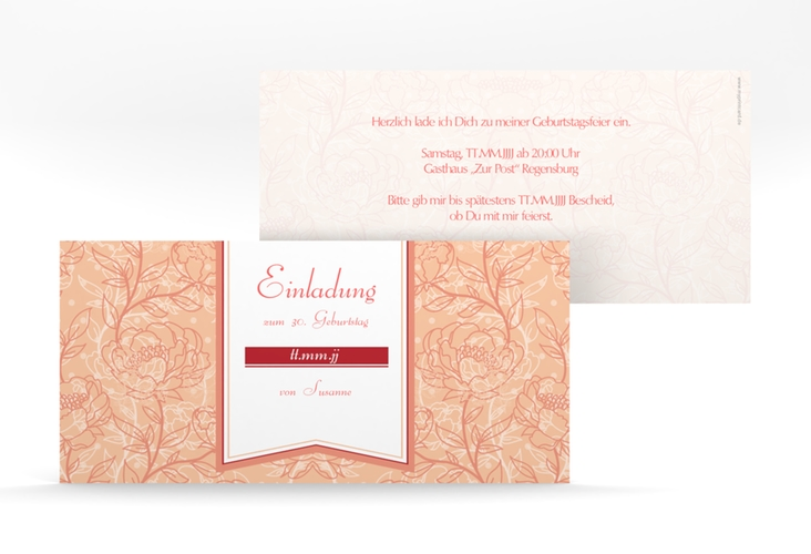 "Einladungskarte ""Marta"" DIN lang"