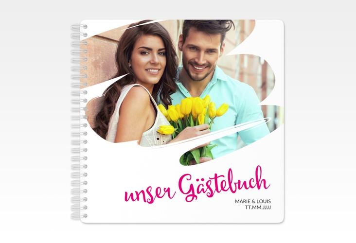 """Gästebuch Hochzeit """"Felice"""" Ringbindung"""