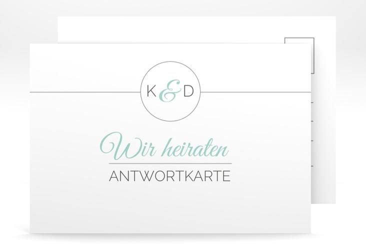 """Antwortkarte Hochzeit """"Unique"""" A6 Postkarte"""