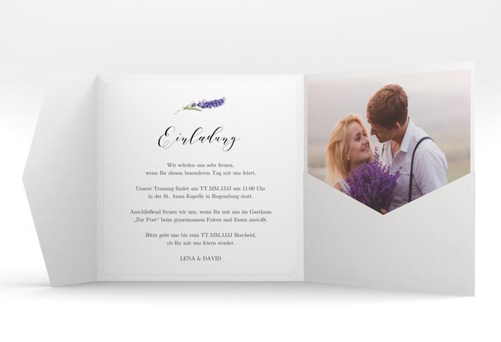 """Hochzeitseinladung """"Lavendel"""" Pocketfold"""