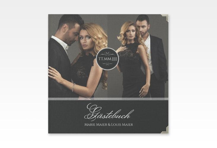 """Gästebuch Selection Hochzeit """"Elegancy"""" Leinen-Hardcover schwarz"""