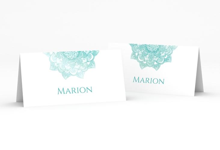 """Tischkarte Hochzeit """"Delight"""" Tischkarten mint"""