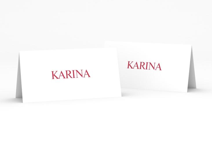 """Tischkarte Hochzeit """"Balance"""" Tischkarten rot"""