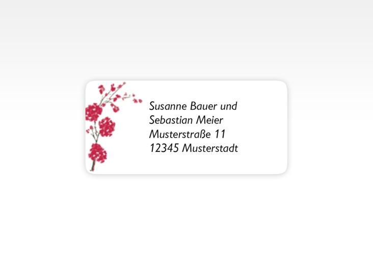 """Absenderetikett Hochzeit """"Salerno"""" 45,7 x 21,2 mm rot"""