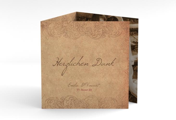 """Dankeskarte Hochzeit """"Fairytale"""" Quadr. Karte doppelt"""
