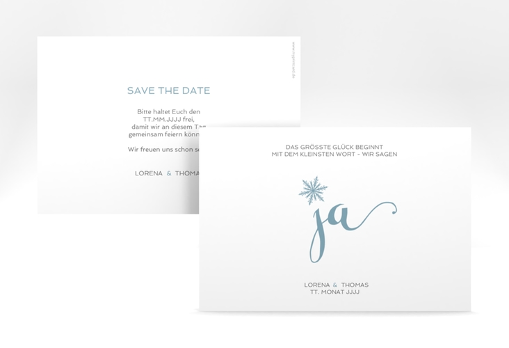 "Save the Date-Karte ""Snowflake"" A6 quer"