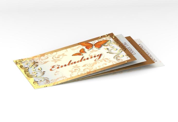 """Hochzeitseinladung """"Toulouse"""" Booklet orange"""