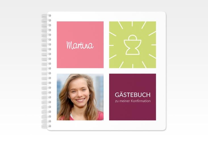 """Gästebuch Konfirmation """"Segen"""" Ringbindung"""