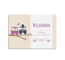 """Willkommensschild Hochzeit """"Eulenliebe"""""""