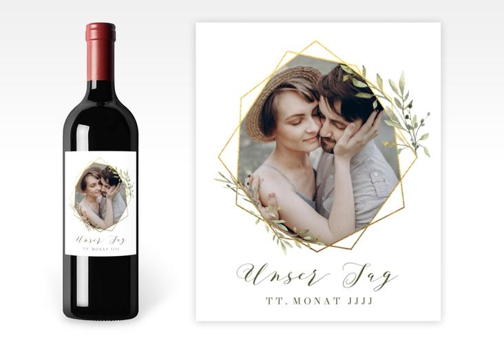 """Weinetikett zur Hochzeit """"Acacia"""" Etikett Weinflasche 4er Set"""